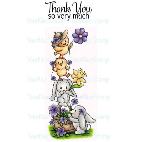 "Your Next Stamp Clear Stamps 4""X4"" - A Cute Stack"