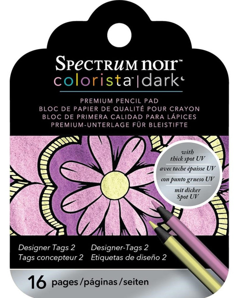 Spectrum Noir - Colorista Dark Pencil Pad - Tags 1