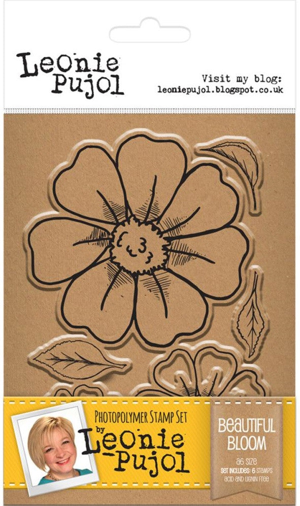 Crafter's Companion - Photopolymer Stamp Set by Leonie Pujol - Beautiful Bloom