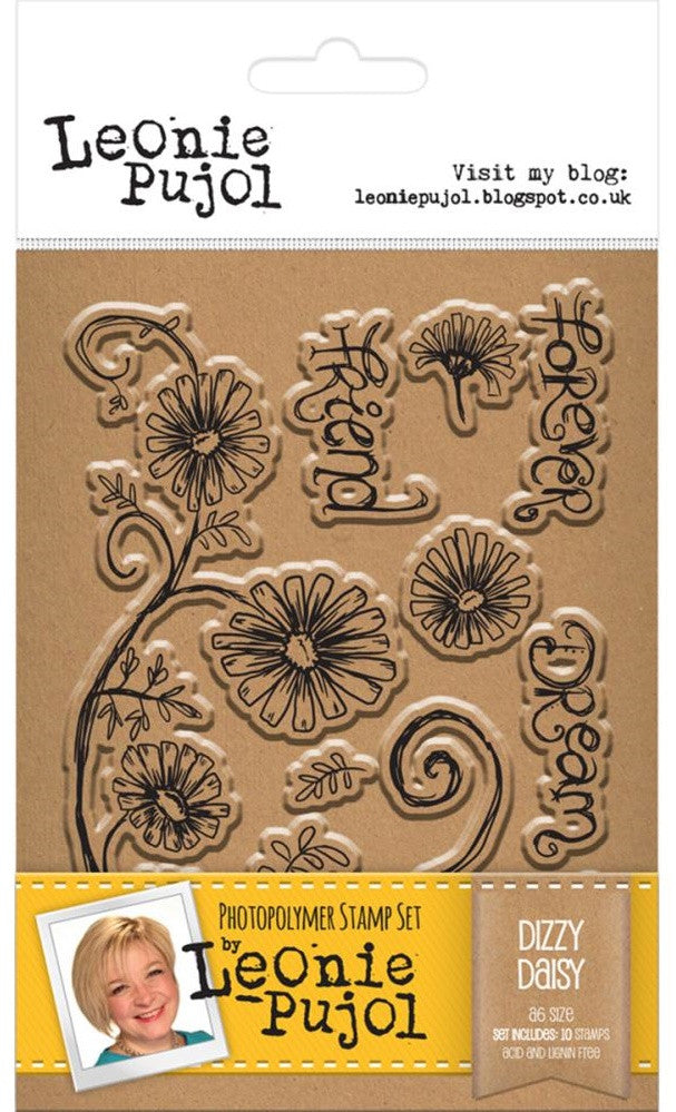 Crafter's Companion - Photopolymer Stamp Set by Leonie Pujol - Dizzy Daisy