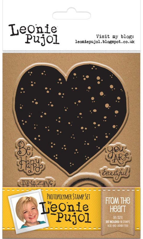 Crafter's Companion - Photopolymer Stamp Set by Leonie Pujol - From The Heart