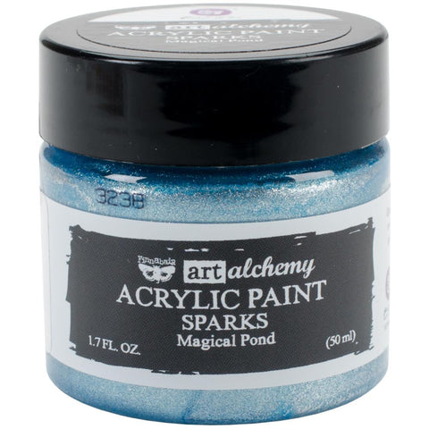 Prima Marketing - Finnabair Art Alchemy Sparks Acrylic Paint - Magical Pond