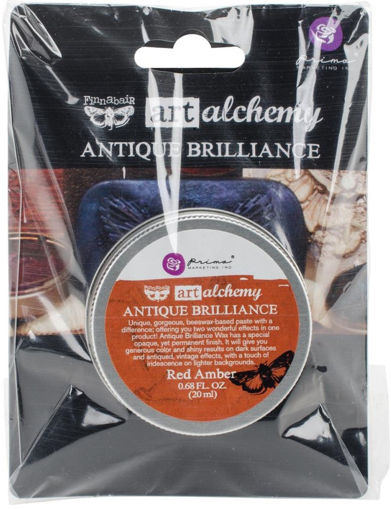 Prima Marketing - Finnabair Art Alchemy Antique Brilliance Wax - Red Amber