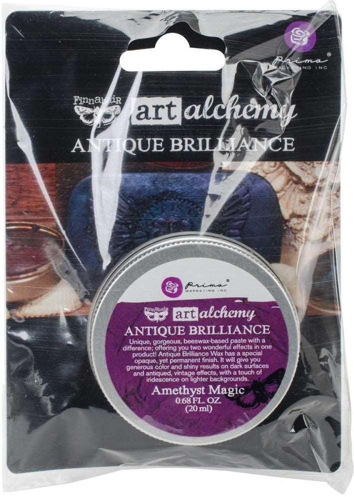 Prima Marketing - Finnabair Art Alchemy Antique Brilliance Wax - Amethyst Magic