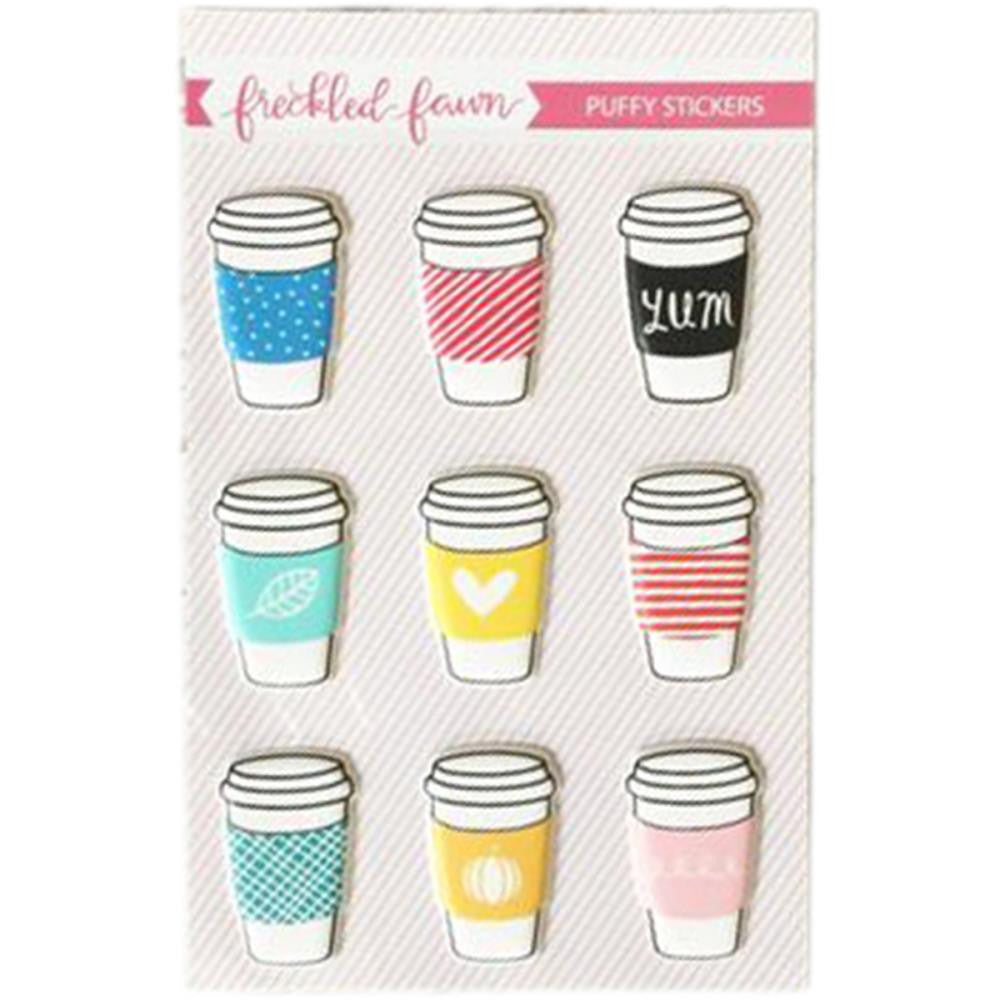Freckled Fawn Puffy Stickers - Drink Cups