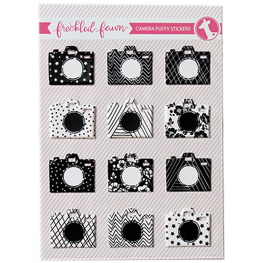 Pre-Order - Freckled Fawn Puffy Stickers - Cameras