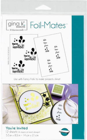 Therm O Web - Gina K Designs Foil-Mates - You're Invited