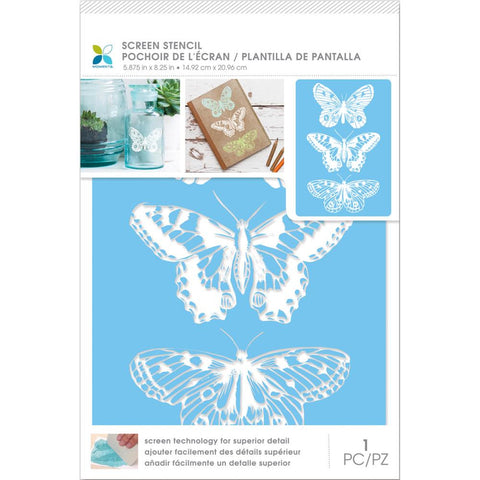 "Momenta Craft Screen Stencils 6""x9"" - 3 Butterflies"