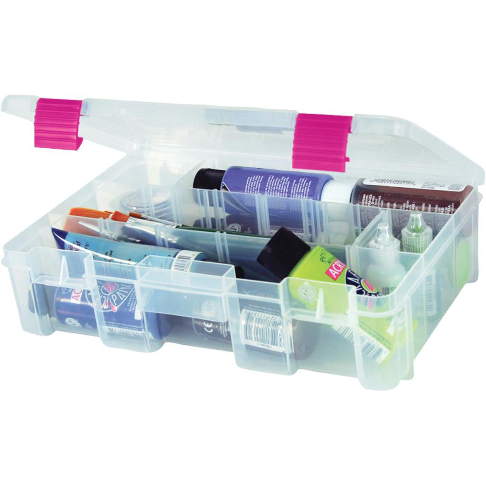 Creative Options Deep 3600 Utility Box - Clear W/Magenta Latches