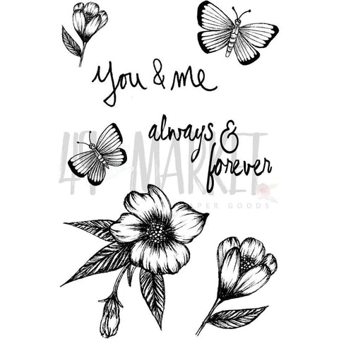 "49 and Market - Clear Stamps 4""X6"" - Valerie's Always & Forever"