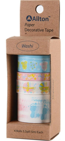 Allton - Decorative Washi Tape Assorted Widths - Baby