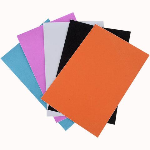 Allton - Ultra Fine Glitter Sticky Paper - Mix 2: Black, White, Rose, Aqua, Orange