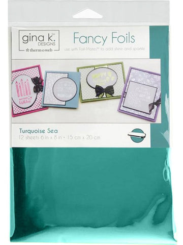 Therm O Web - Gina K Designs Fancy Foils - Turquoise Sea
