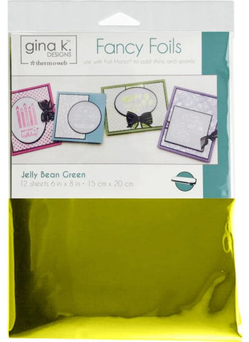 Therm O Web - Gina K Designs Fancy Foils - Jelly Bean Green