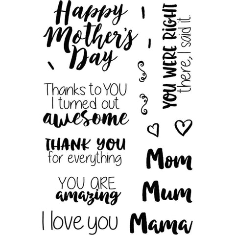 Jane's Doodles - Clear Stamps - Mother's Day