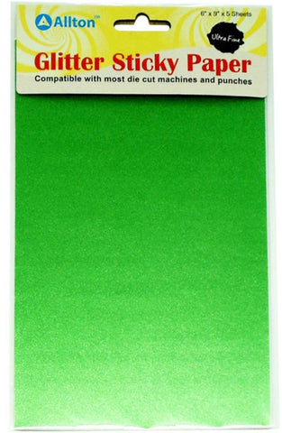 Allton - Ultra Fine Glitter Sticky Paper - Apple Green