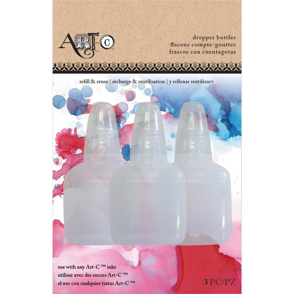 Art-C Dropper Bottles 3/Pkg - Empty