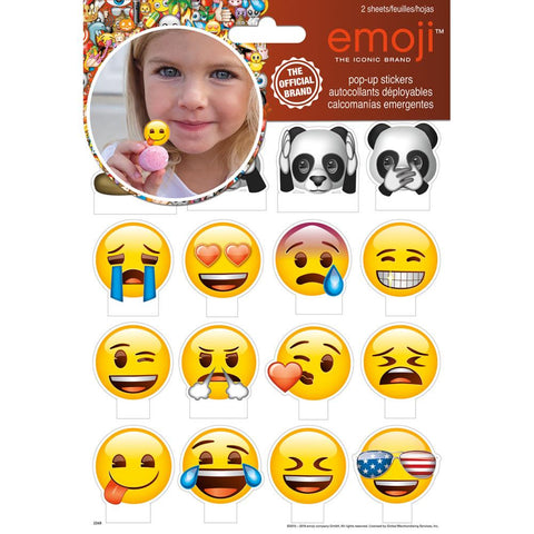 (Preorder) Trends International Emoji Pop-Up Stickers 2 Sheets