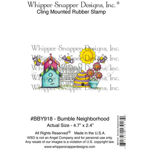 "Whipper Snapper Designs - 4"" x 6"" Cling Stamps - Bumble Neighborhood"