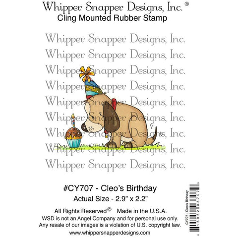 "Whipper Snapper Designs - 4"" x 6"" Cling Stamps - Cleo's Birthday"