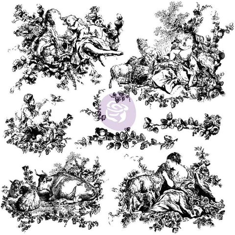 "(Pre-Order) Iron Orchid Designs Decor Clear Stamps 12""X12"" - Pastoral Toile"
