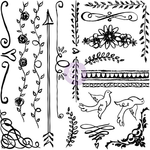 "Iron Orchid Designs Decor Clear Stamps 12""X12"" - Expressions"
