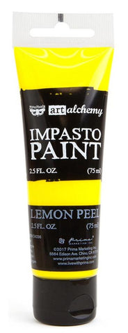 Prima Marketing - Finnabair Art Alchemy - Impasto Paint - Lemon Peel