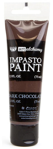 Prima Marketing - Finnabair Art Alchemy - Impasto Paint - Dark Chocolate