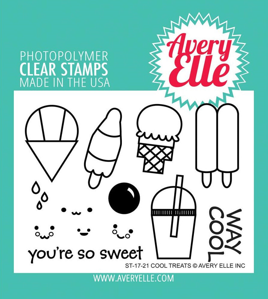 Avery Elle - Photopolymer Clear Stamps - Cool Treats