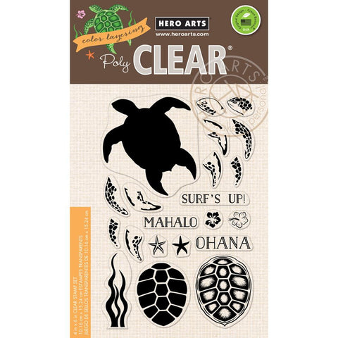 "Hero Arts - Clear Stamps 4"" x 6"" - Color Layering Sea Turtle"