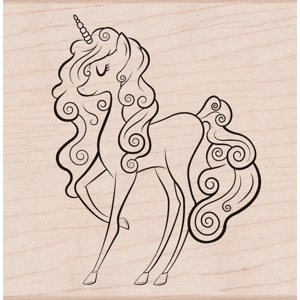 Hero Arts - Mounted Rubber Stamps - Unicorn