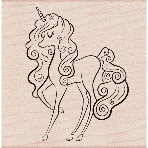 "(Pre-Order) Hero Arts - Mounted Rubber Stamp 2.5""X2.5"" - Unicorn"