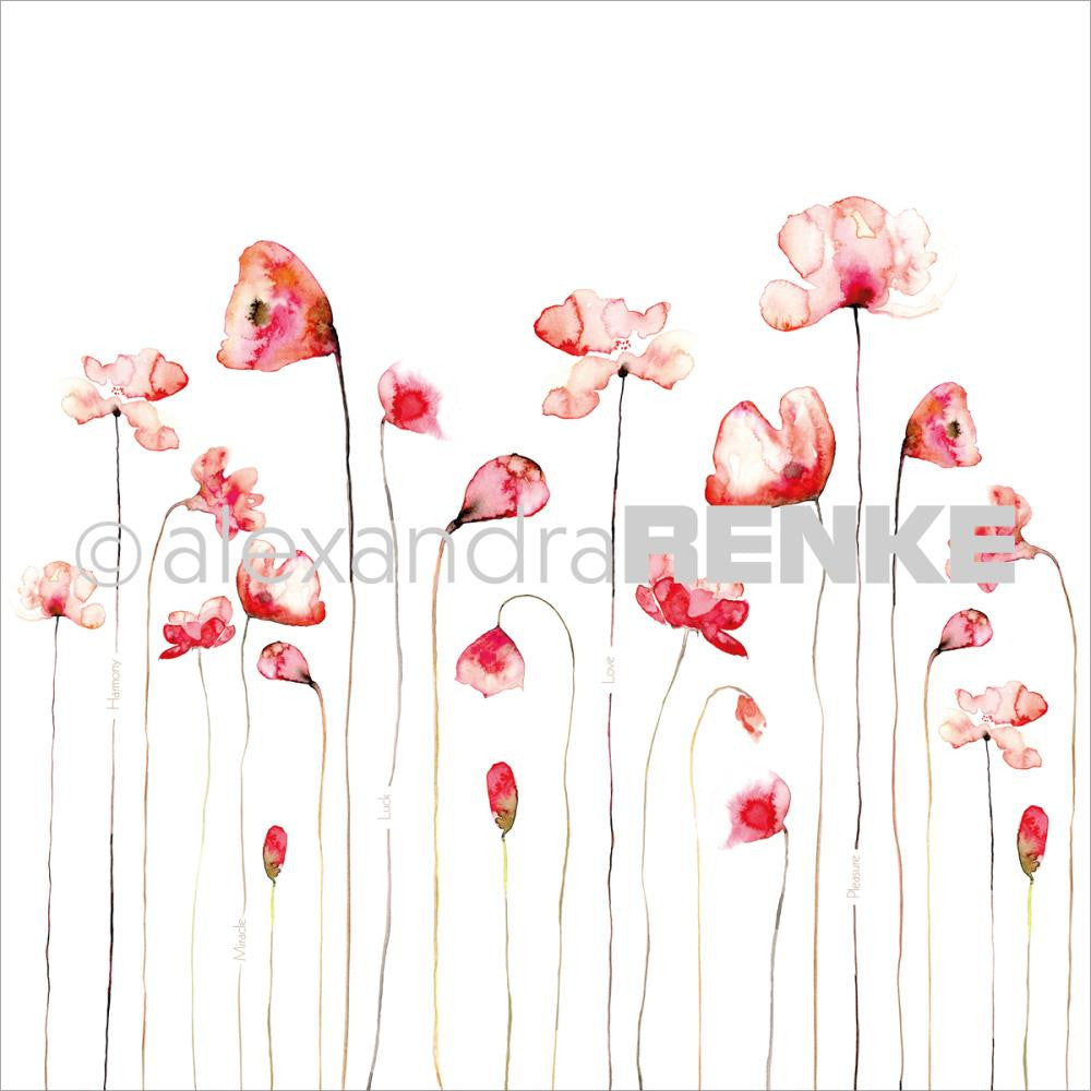 "Alexandra Renke - 12""x12"" Poppy Design Paper - Red"