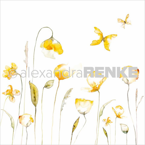 Alexandra Renke - Poppy Design Paper - Yellow