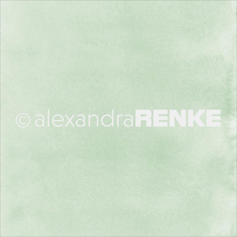 "Alexandra Renke - Mimi's Basic Design Paper 12""X12"" - Bright Green Watercolor"