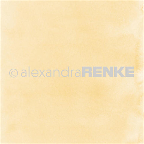"Alexandra Renke - Mimi's Basic Design Paper 12""X12"" - Yellow Watercolor"