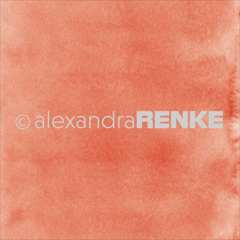 "Alexandra Renke - Mimi's Basic Design Paper 12""X12"" - Dark Apricot Watercolor"