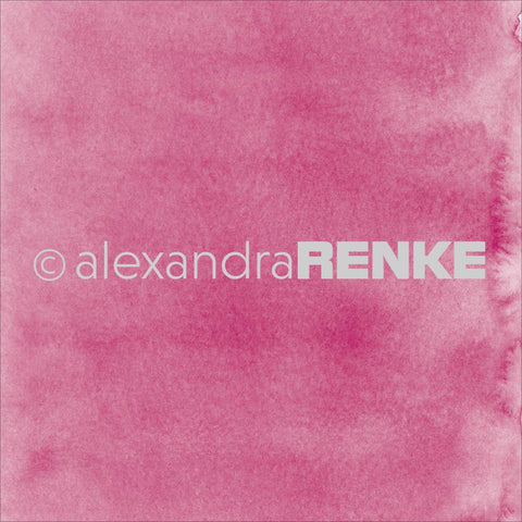 "Alexandra Renke - Mimi's Basic Design Paper 12""X12"" - Dark Pink Watercolor"