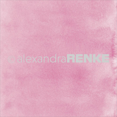 "Alexandra Renke - Mimi's Basic Design Paper 12""X12"" - Bright Pink Watercolor"