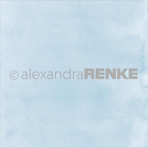 "Alexandra Renke - Mimi's Basic Design Paper 12""X12"" - Light Blue Watercolor"