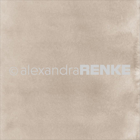 "Alexandra Renke - Mimi's Basic Design Paper 12""X12"" - Bright Mud Watercolor"