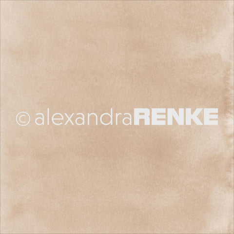"Alexandra Renke - Mimi's Basic Design Paper 12""X12"" - Light Porcini Watercolor"