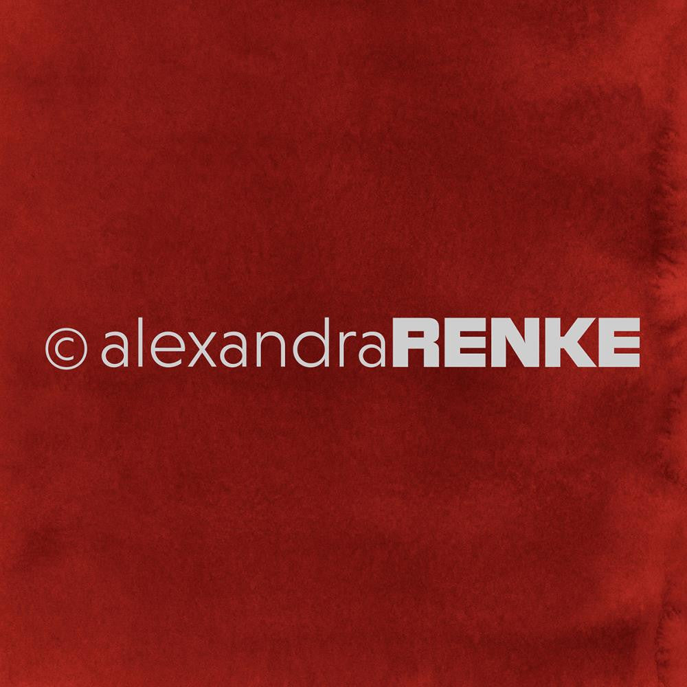 "Alexandra Renke - Mimi's Basic Design Paper 12""X12"" - Red Watercolor"