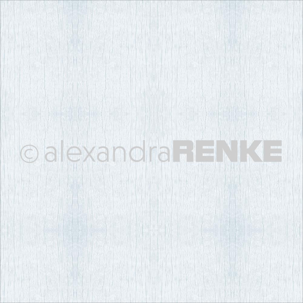 Alexandra Renke - Wooden Structure Basic Design Paper - Light Blue