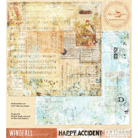 ***Pre-Order*** Blue Fern Studios - Happy Accident Double-Sided Cardstock - Windfall