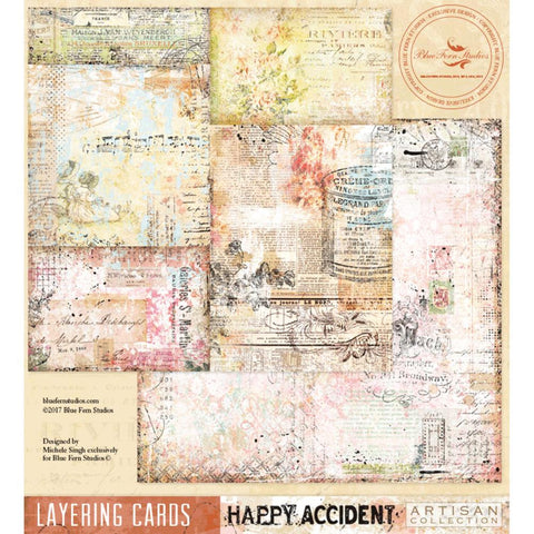 ***Pre-Order*** Blue Fern Studios - Happy Accident Double-Sided Cardstock - Layering Cards