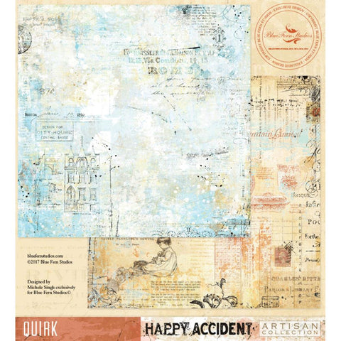Blue Fern Studios - Happy Accident Double-Sided Cardstock - Quirk