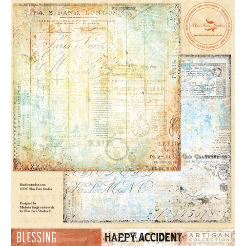 Blue Fern Studios - Happy Accident Double-Sided Cardstock - Blessing