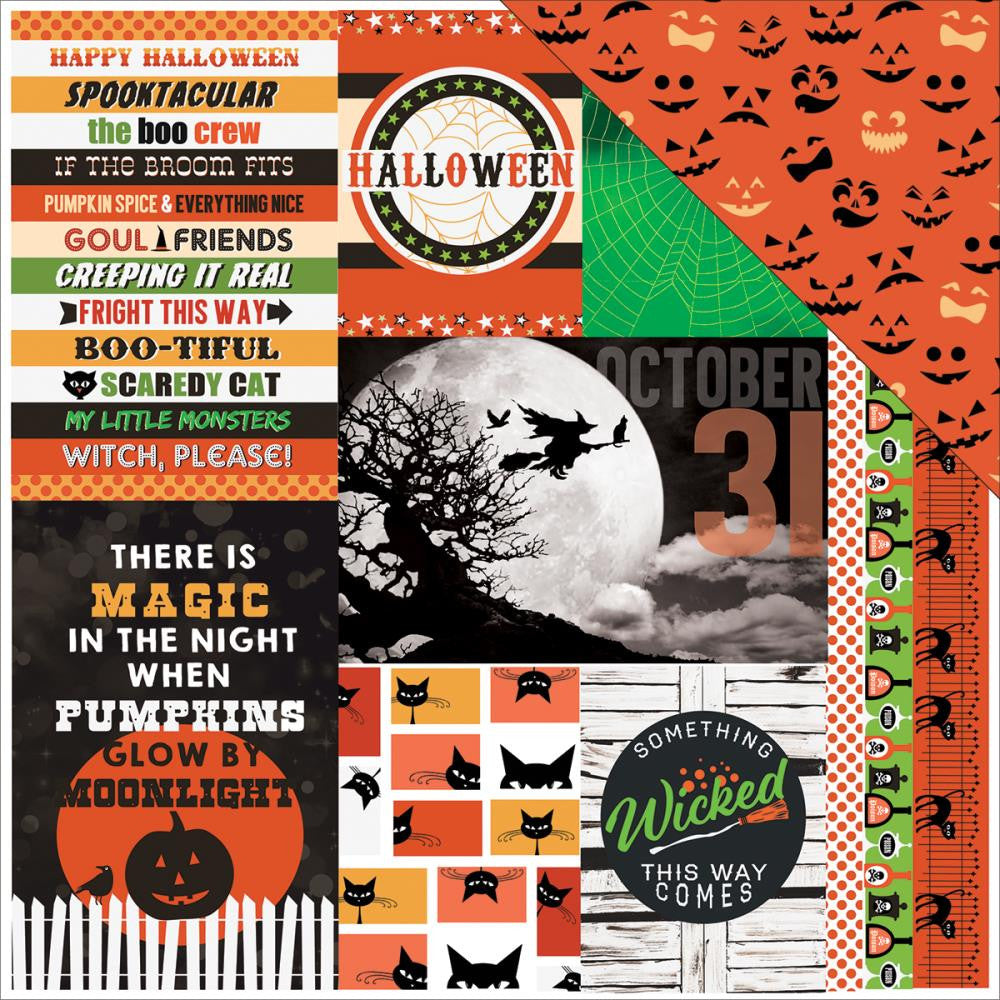 Paper House - Wicked Good Double-Sided Cardstock - Wicked Good Tags (Halloween)
