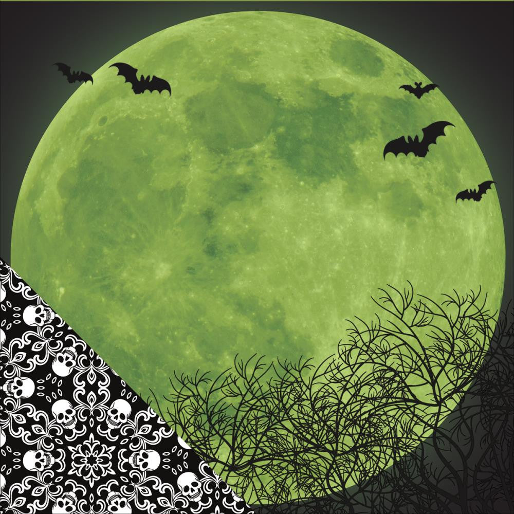 Paper House - Wicked Good Double-Sided Cardstock - Moonlight (Halloween)